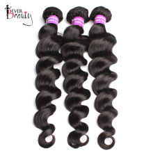 Brazilian Virgin Hair Loose Wave Human Hair Weave Bundles 3Pcs/Lot Natural Black Hair Extension Ever Beauty