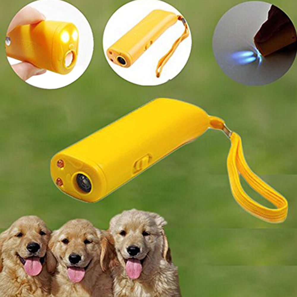 2016 Hot Sale Ultrasonic Dog Training Device Anti Bark Barking Control LED Light Caravan AAA Free Shipping