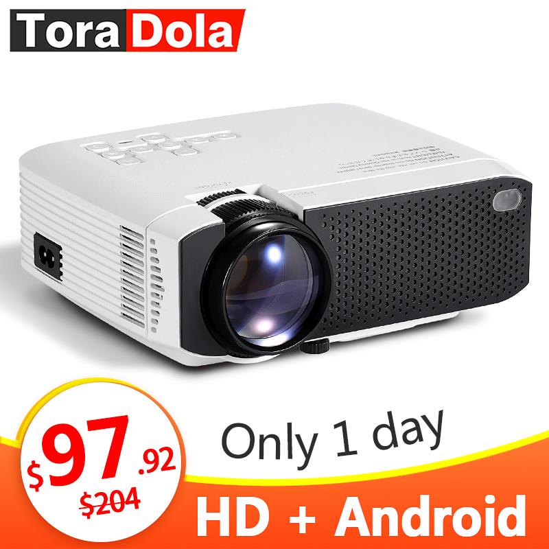 TORA DOLA LED Projector Android 7.1OS. Best MINI HD Projector. 1280x720 Resolution Home Cinema, 1080P Beamer WIFI TD01(China)