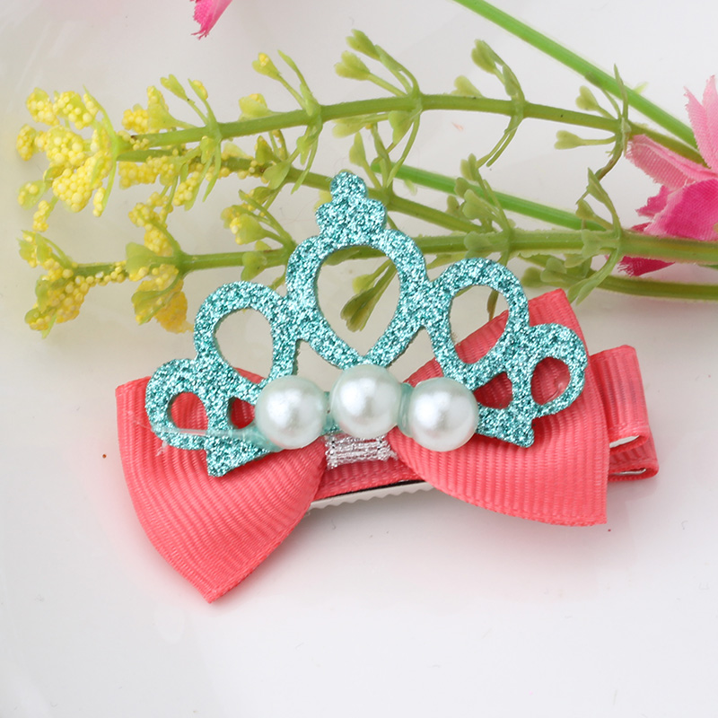 Apparel Accessories M Mism Novelty Shiny Crown Hair Clip Girl Hair Accessories Grid Yarn Tiara Bow-knot Hairpins Children Headwear Lovely Hairgrip Fixing Prices According To Quality Of Products Girl's Hair Accessories