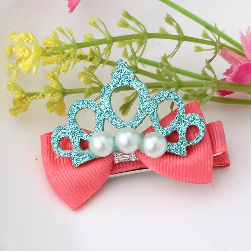 design shiny pearl crown hair