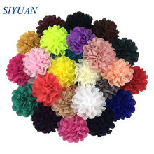 10 teile/los 7,5 cm Höhlte Heraus Stoff Haar Blume mit Clip Mädchen Öse Headwear Blume Zubehör DIY Boutique TH03