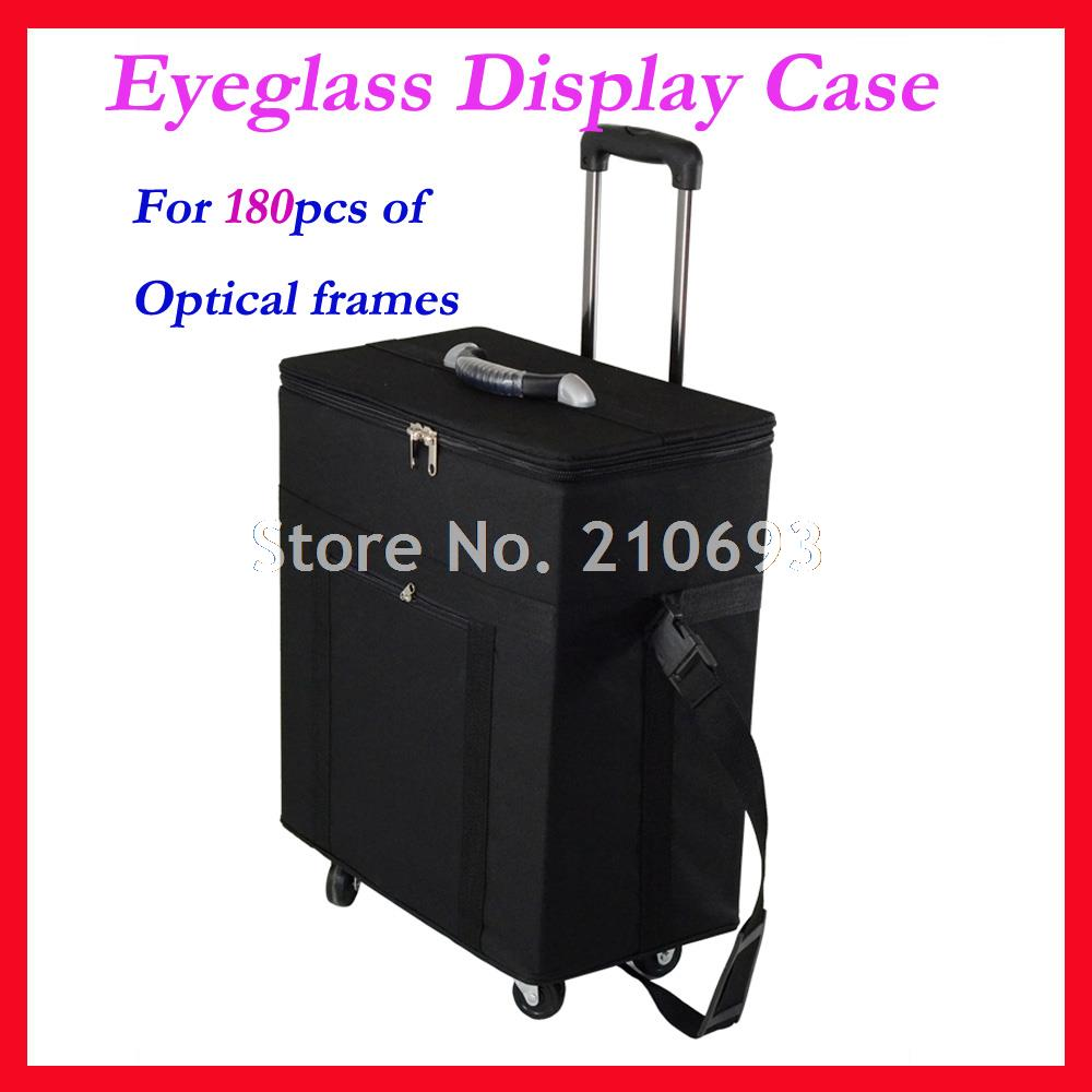 Hold 180pcs Eyeglasses Optical frame Reading Glasses Display case Sample box travel Trolley Case S180