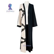 New fashion Casual Women Abaya Robe lace Musulmane Turkish Abaya Muslim Dress Robes Arab caftan