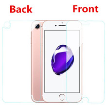 pelicula de vidro front+back tempered glass for iphone X 8 4 4S 5 5S SE 5C 6 6S 7 Plus screen protector capa case 0.3mm coque