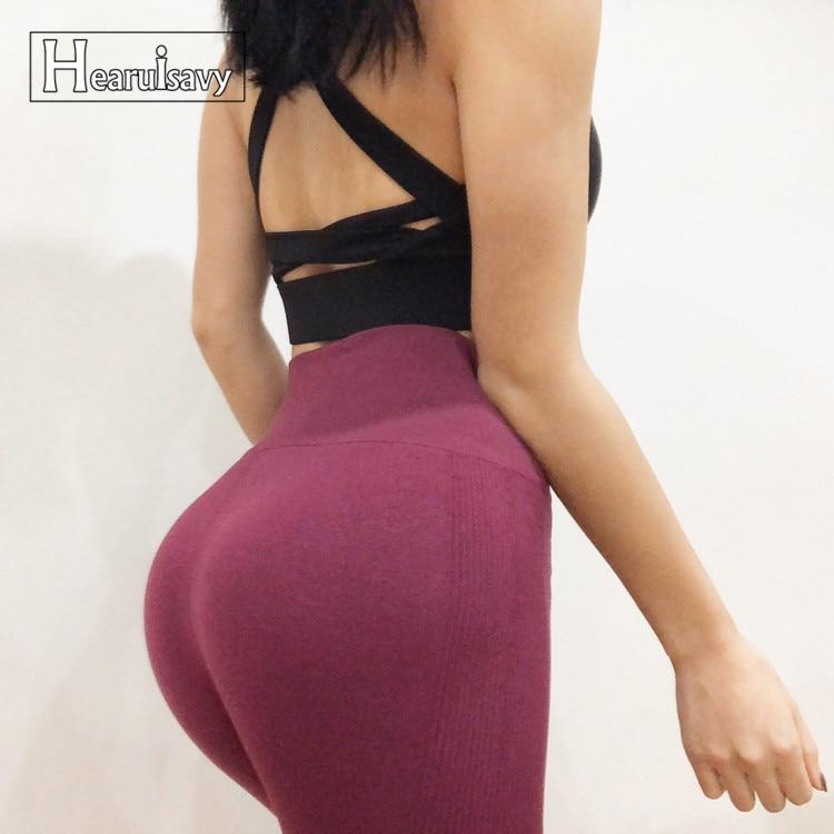 High Waist Seamless Yoga Pants Sports Leggings For Women s Workout Slim Gym Fitness push up