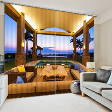 3D Digital Printing Bedroom Living Room Hotel Door Window Curtain Finished Drapes Window Blackout Curtains