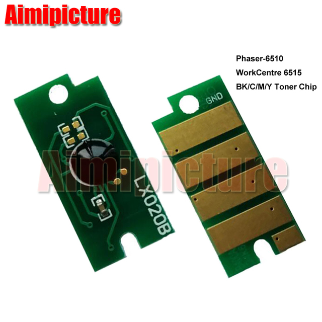 106R03480 106R03690 106R03691 106R03692 Toner Cartridge Chip For Xerox  Phaser 6510 WorkCentre 6515 WC6515 6515 6510 8pcs/lot-in Cartridge Chip  from