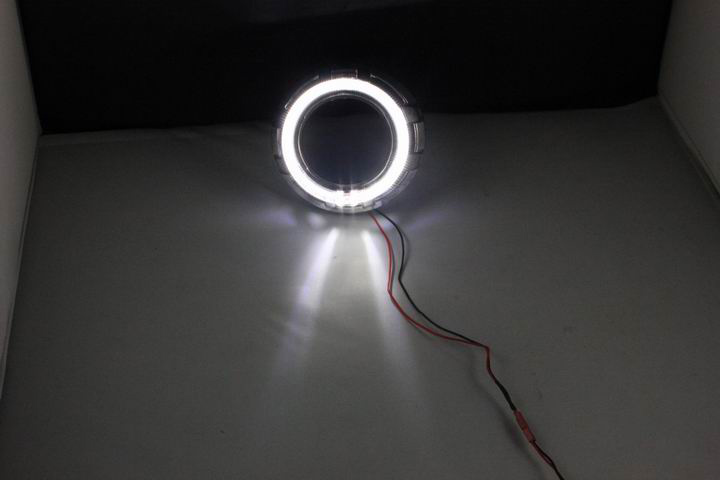 Cree 10W LED Angel Eyes Full Circle 80mm LED angel eyes rings for bi-xenon projector Motocycle car light white/red/blue/yellow other voices full circle cd