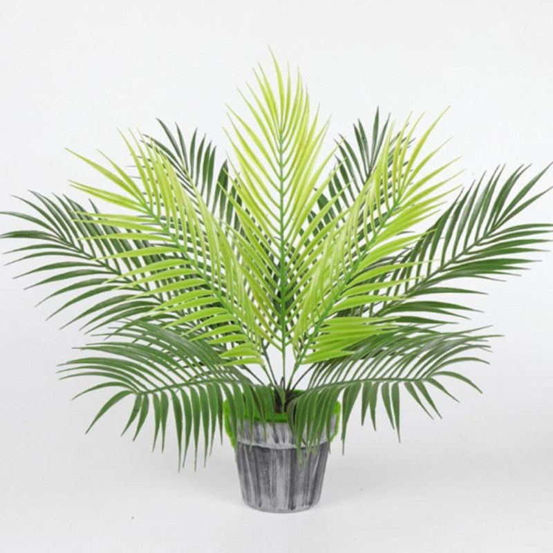 Large Artificial Plants Green Cycas Leaves Garden Home Decor 1 Bouquet Autumn Decoration Artificial Grass Plant