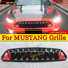 For Mustang Front Bumper Kidney Racing Grills Front Mesh ABS Red & balck 1:1 Replacement Fit For Ford Mustang grill grille 2018+ цена