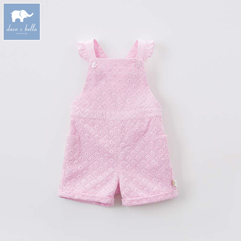 Dave bella fashion costumes baby girls summer overalls children toddler clothes kids overalls DBA6678 db5941 dave bella autumn baby boys toddler stars print overalls children high quality overalls infant denim clothes