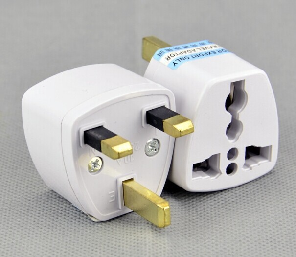High quality 50 Pcs Universal EU US AU to UK AC Travel Power Plug Charger Adapter Converter Travel Adaptors UK converter