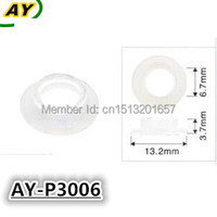 1000 pièces injecteur de carburant pintle cap rondelle en plastique, joint pour 0280155976 0280156036 (AY-P3006, 13.2*3.7*6.7mm)