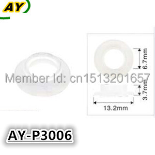 1000pieces  fuel injector pintle cap plastic washer ,gasket for 0280155976  0280156036(AY-P3006,13.2*3.7*6.7mm)1000pieces  fuel injector pintle cap plastic washer ,gasket for 0280155976  0280156036(AY-P3006,13.2*3.7*6.7mm)