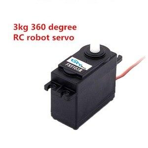 Image 2 - 4 Uds. Feetech FS5103R 3 kg. cm 360 grados de rotación continua RC servomotor analógico para Robot Smart Car Boat FZ3413