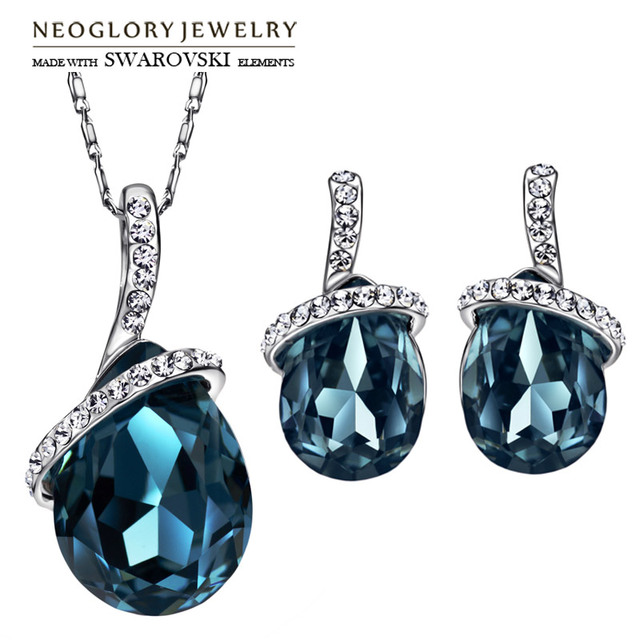 Neoglory Austria Rhinestone   Crystal Jewelry Set Exquisite Water Drop  Style Alloy Plated Trendy Gift Brand d23a78a65caa