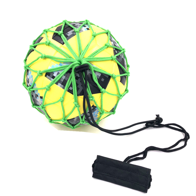 Handle Solo Soccer Kick Trainer Ball Locked Net Football Ball Bungee Elastic Training Juggle bags Net Size 3,4,5 high quality