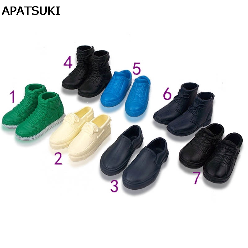 1Pair Fashion Doll Shoes Sneakers Shoes For Prince Ken Male Dolls Accessories For Barbie Boyfriend Ken High Quality Baby Toy