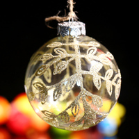 Wedding Bauble Xmas Tree Ball Ornament Microbead Flower Christmas Decoration Supplier DIY Home Party Event Annisary