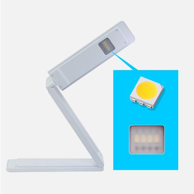 LED Recarregável lâmpada de mesa proteção para os olhos regulável estudo desk luz luzes de cabeceira candeeiro de mesa de carga dobrável