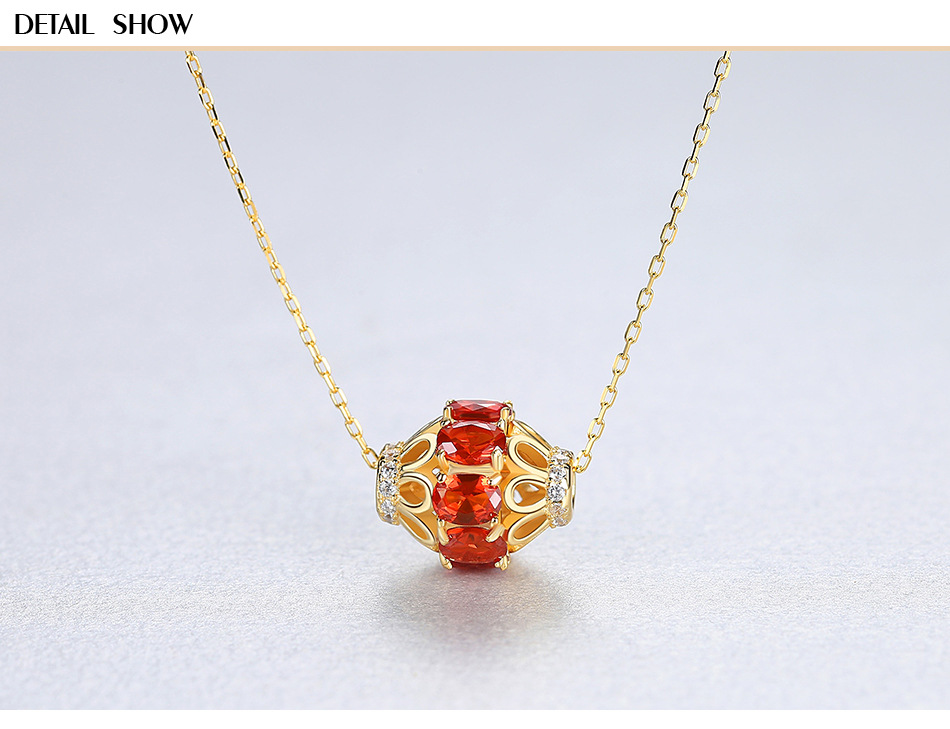 S925 sterling silver necklace color treasure pendant clavicle chain fashion exquisite female accessories VSH01