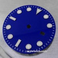 31.3mm blu data finestra Della Manopola Della Vigilanza per 2836 Mingzhu ETA 2813/4813 Movimento D22