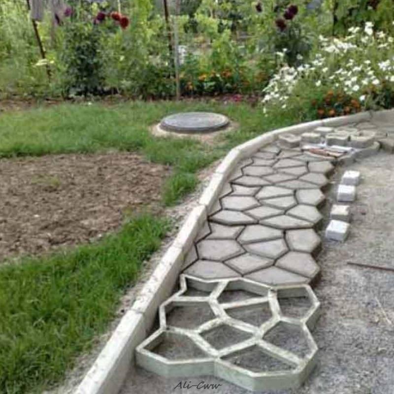 DIY Plastic Path Maker Mold Manually Paving/Cement Brick Molds Patio Concrete Slabs Path Garden Ornaments