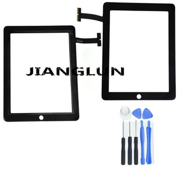 JIANGLUN Black For iPad 1 1st Gen Replacement Touch Screen Glass Panel Digitizer +Tools