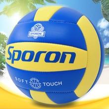 Воздушный шар Volley мяч ПВХ мягкий Профессиональный тренировочный соревновательный мяч 5# пляжный водный гандбол Крытый Открытый Bola De Volei
