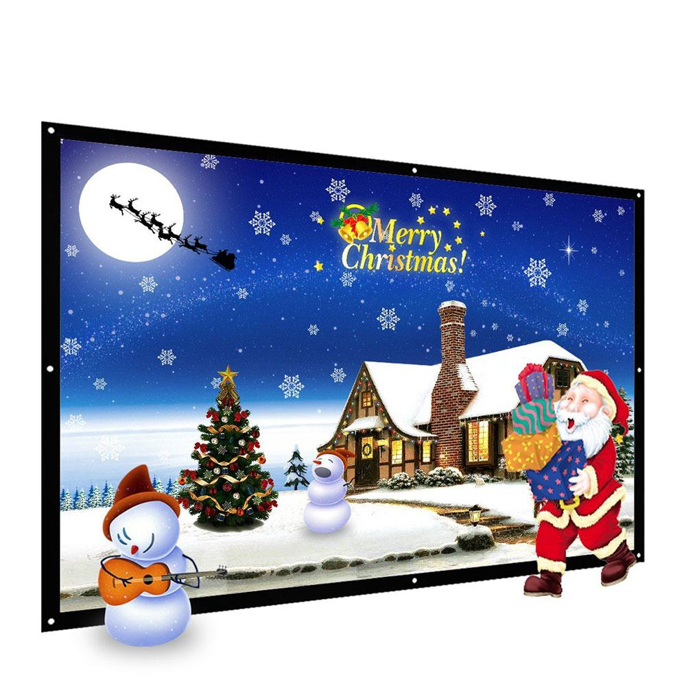 Portable PVC Soft Foldable 100 inch 16: 9 Ratio Polyester screen for projector Film Home Theater HD Courtyard Projection Screen support for customfree shipping 120 inch projector mount screen 16 9 gf grey