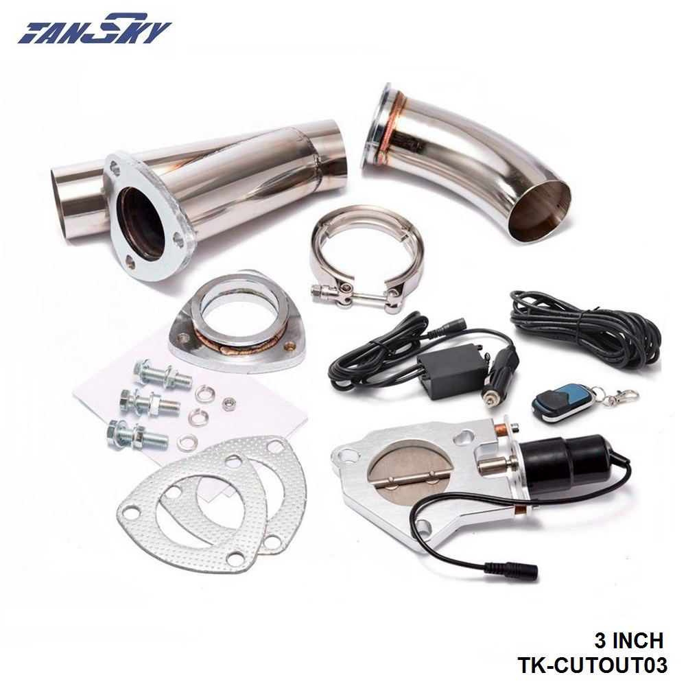 3 INCH EXHAUST CUTOUT ELECTRIC DUMP Y-PIPE CATBACK CAT BACK TURBO BYPASS STEEL For FORD MONDEO TDCi 2.0 2.2 TK-CUTOUT03 3 inch exhaust cutout electric dump y pipe catback cat back turbo bypass steel for toyota supra mk3 hu cutout03