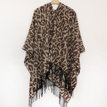 Brand Animal Leopard Poncho Scarves For Women High Quality Winter and Wraps Femme Pashmina Female Shawls Stole