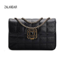 Genuine leather bag female Brand luxury handbags women bags designer shoulder smalll chain bags women messenger bag ZALANDAR