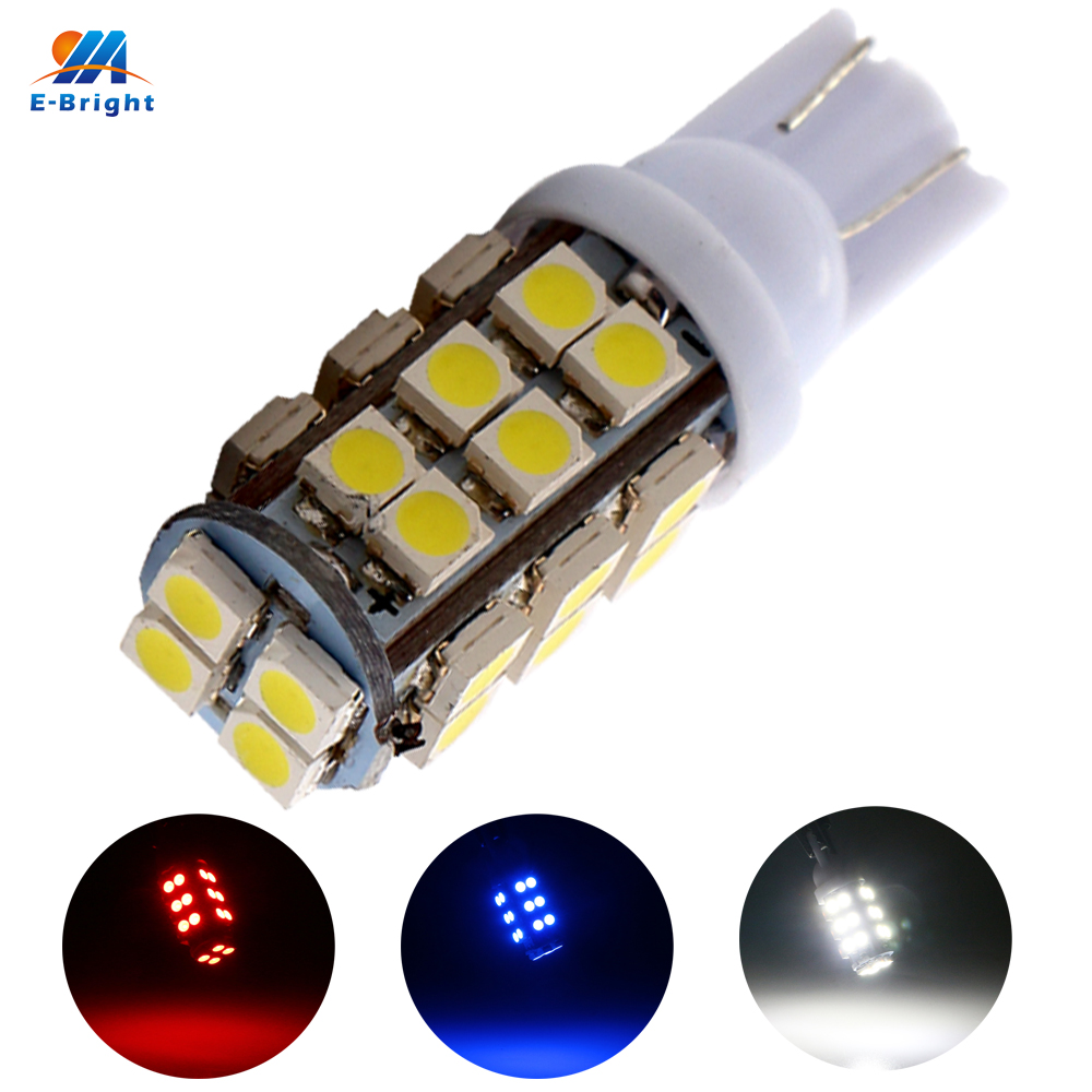 YM E Bright 500X T10 Car Bulbs 168 194 W5W 3528 1210 28 SMD 28 Led