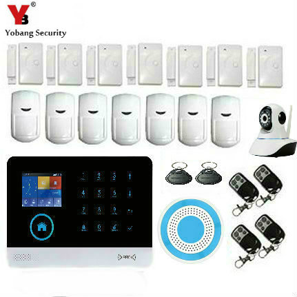 YoBang Security Touch Keyboard WiFi GSM Home Burglar Alarm Security System Android IOS APP WiFi IP Camera PIR Motion Detector.