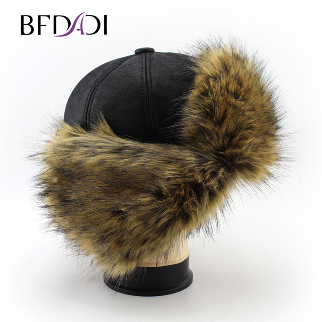 BFDADI Wind&Water Proof Trapper Hat, men Fur cap,Russian Hat, bomber caps for men,winter hats Free Shipping