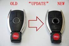 3 + 1 Пуговицы обновление изменение Smart Remote Оболочки автомобиля Болванки для ключей чехол для Mercedes-Benz с Батарея держатель + ключа