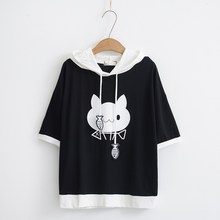 Harajuku Cat Kawaii Hoodies Lolita Junior Cute Ear Hoody Pullover Student Girls School Clothes Anime Lovely Tops