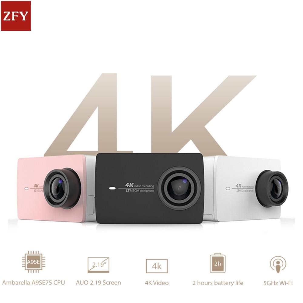 "YI 4K Action Camera Xiaomi Ambarella A9SE Sports Action Camera <font><b>12</b></font>.0MP CMOS EIS <font><b>2</b></font>.19"" LDC Retina Screen WIFI Waterproof Smart DV"