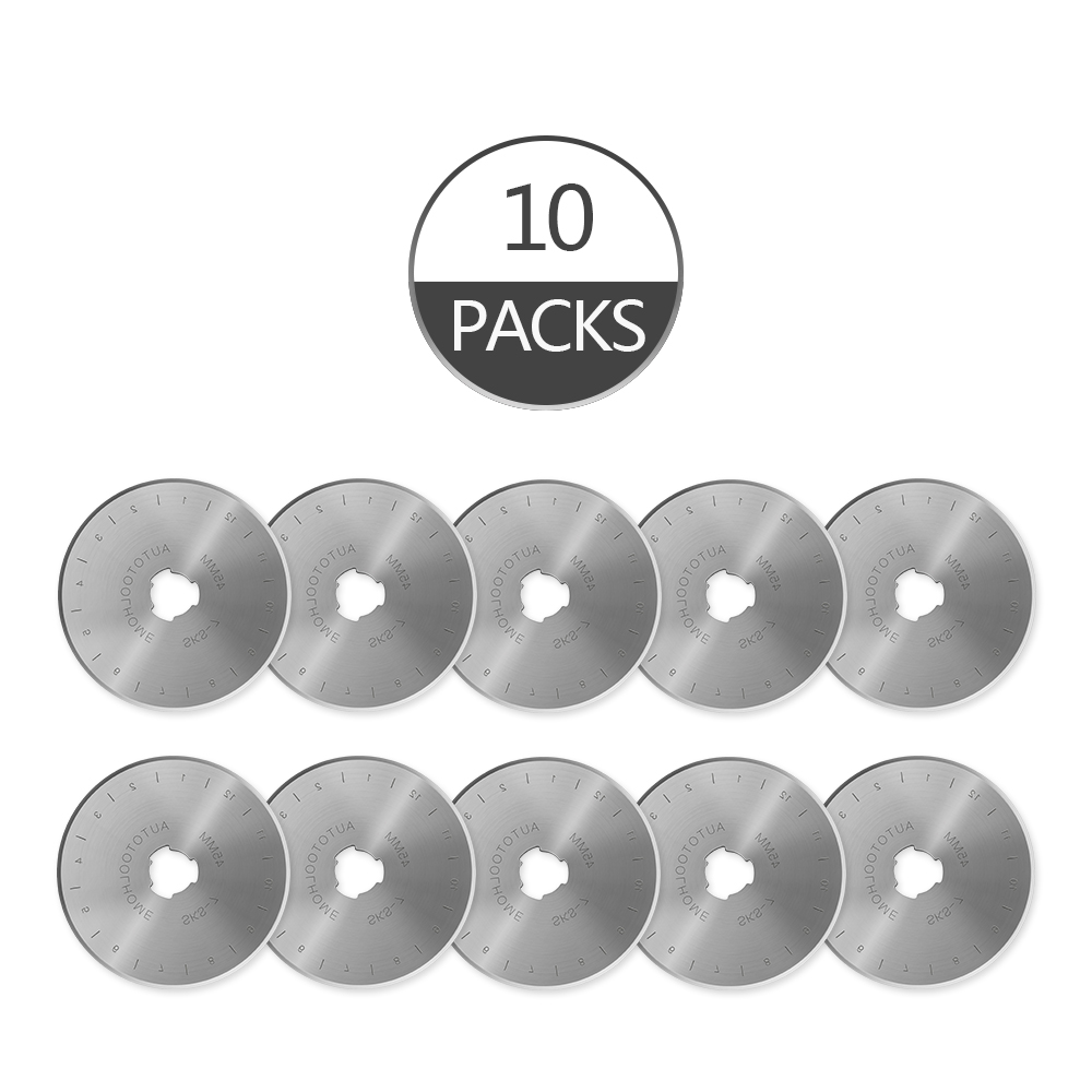 45mm Rotary Cutter Blades Circle Refill Blade For Olfa Fiskar Clover Cloth Fabric Paper Cutting Patchwork Sewing Tools