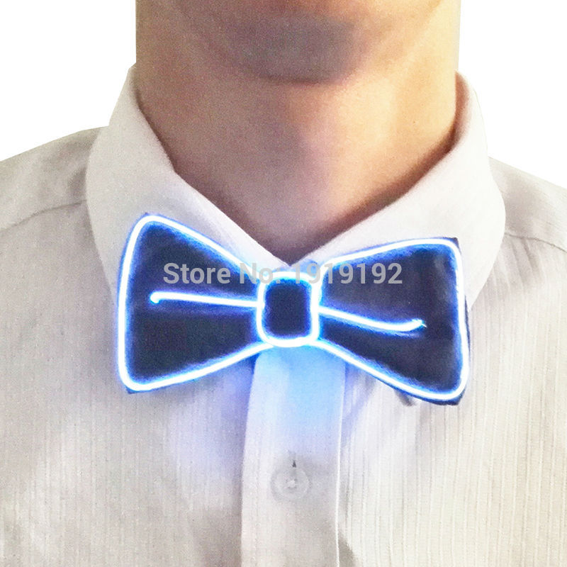 2017 Sound activated 10 Color Fashion Design Glowing Flashing LED Bow Tie electroniC DJs,ELbow Tie for party ,bar,club, DJ