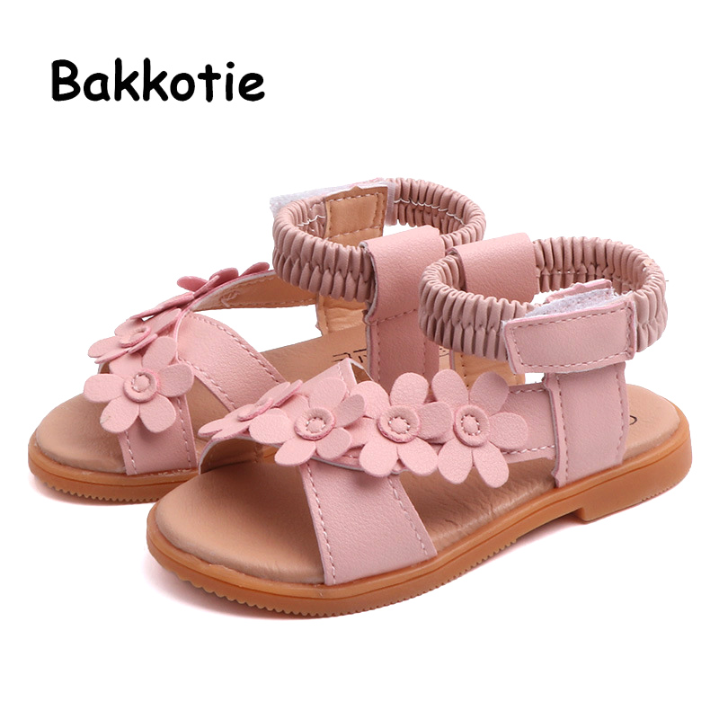 Bakkotie 2019 Summer New Princess Fashion Glitter Sandals Kids Cute Pink Dress Shoes Girls Soft Mesh Causal Beach Sandals Mother & Kids