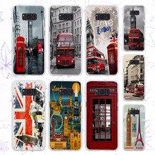 style london bus england telephone vintage british design hard White Case for