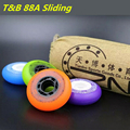 Slide 88A Original T&B Inline Skates Wheel for Sliding FSK Street-brush Skating, Durable PU for SEBA Skates 80mm 76mm 608 Rodas