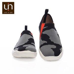 Image 5 - UIN Toledo Zapatillas para hombre informales cómodas y sin cordones, mocasines tejidos, diseño en U