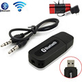 Música estéreo Bluetooth Dongle Receptor Inalámbrico Kit Receptor Bluetooth USB con 3.5mm Cable de Audio Jack Para Smartphones