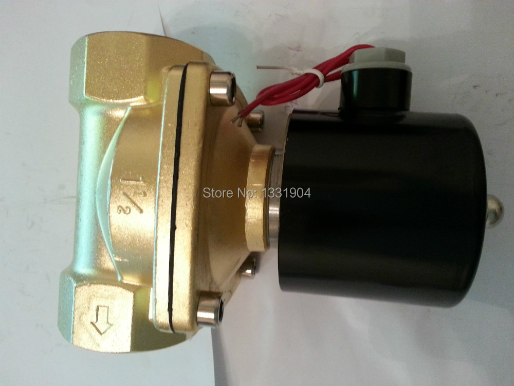 High Quality' Brass Solenoid Valve Normally Closed Water Air Oil 2W400-50 NBR DC12V DC24V AC110V or AC220V u s solid 3 4 brass electric solenoid valve 110 v ac normally closed g thread viton gasket air gas fuel iso certified