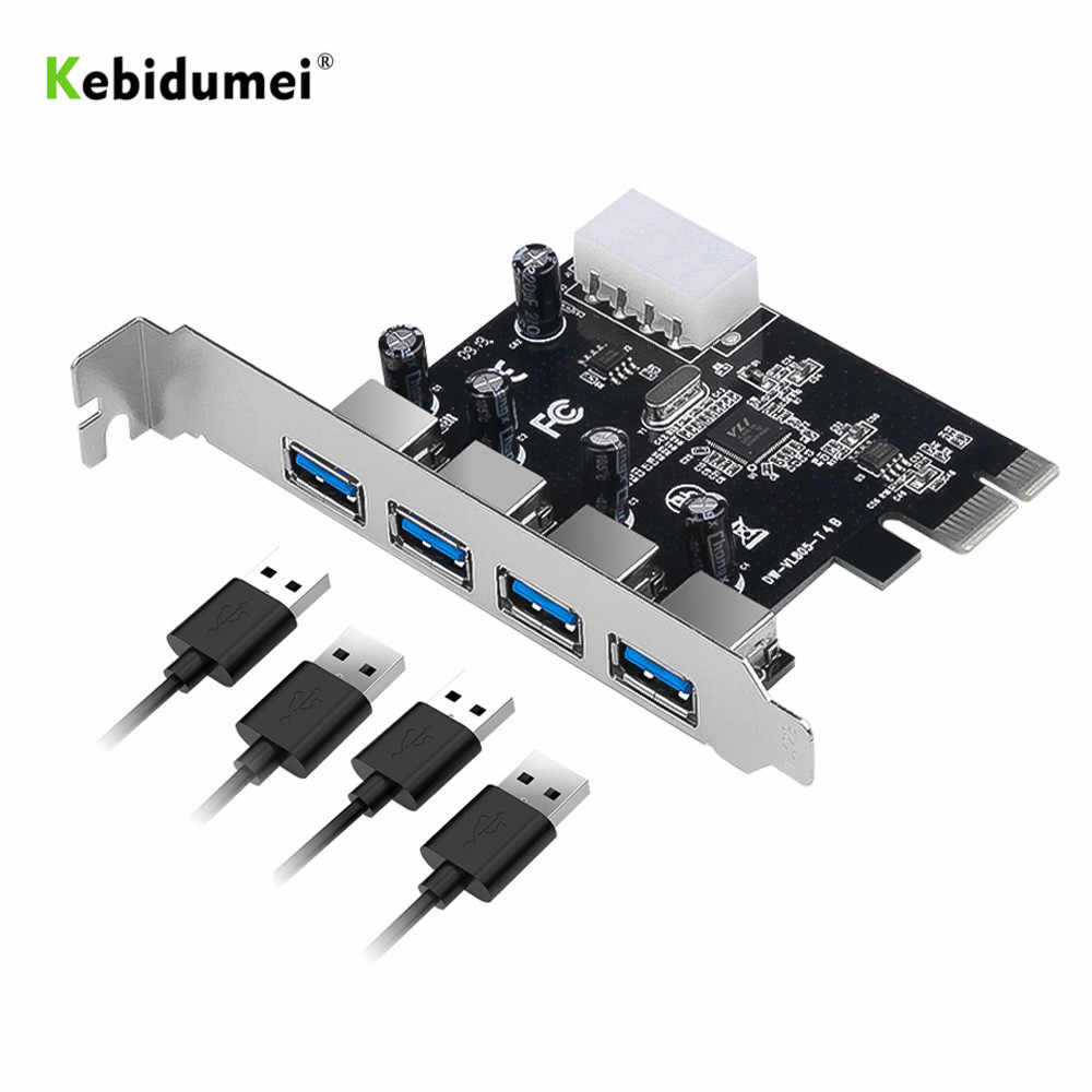 Kebidumei 4-port USB 3.0 PCI-e Expansion Karte PCI express PCIe USB 3.0 hub adapter 4-port USB 3 0 PCI e PCIe express 1x