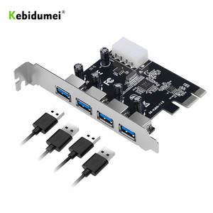 kebidumei 4-port USB 3.0 PCI-e Expansion Card PCI express PCIe USB 3.0 hub adapter 4-port USB 3 0 PCI e PCIe express 1x